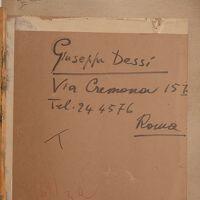 """Tappo originale utilizzato come fondo della cornice del dipinto Scheda n. 48 S. Dessy """"Molo di Alghero"""""""
