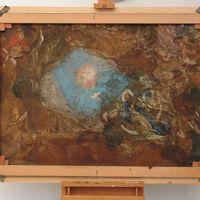 """Retro del dipinto """"Ascensione di Maria Vergine"""""""