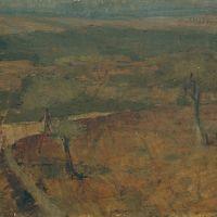 """Ausonio Tanda """"Paesaggio sardo"""" Retro del dipinto"""