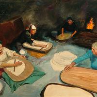 """Adolfo Floris """"Preparazione del pane"""""""