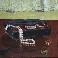 """Rosanna Capitta """"Natura morta con gioielli, profumi e trucchi"""""""